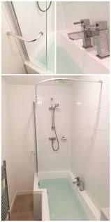 best 25 shower rail ideas on pinterest bathtub shower combo shower use a splash screen with integrated shower curtain rail as an attractive way to
