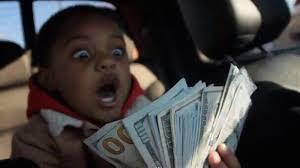 Money Boy Meme - man wins 1 million from lottery ticket given as last minute