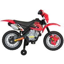 motocross bike for kids kids 6v electric ride on motorcycle dirt bike w training wheels