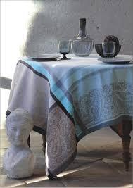 nappe en coton enduit nappes jacquards