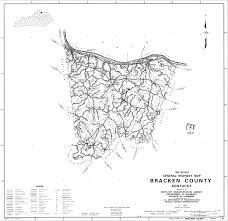 Map Of Kentucky Counties Bracken County Kentucky Usgenweb Free Genealogy Maps Geographical