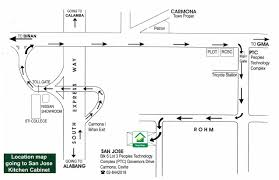 san jose kitchen cabinets map and directions