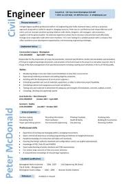 civil engineering cv resume template http www resumecareer