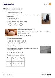 Daily Life Skills Worksheets Multiples Everyday Examples