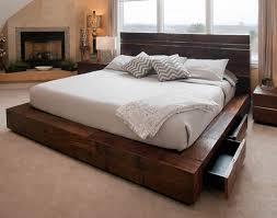 Platform Wood Bed Frame How To Build Wood Platform Bed The Home Redesign