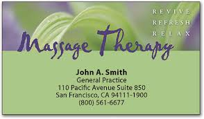 Massage Therapy Business Cards Spread The Word With Massage Therapy Business Cards