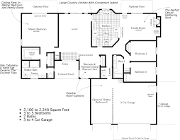 country kitchen floor plans skyline ranch homes floor plans