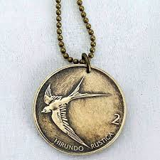 coin jewelry necklace images Swallow bird coin necklace swallow necklace coin jpg