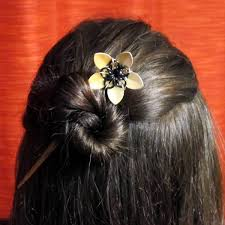 hair sticks knitting metal metal flower hair sticks marketplace new inc