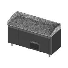 black granite table top section counter with granite table top