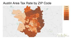 Ut Austin Campus Map by Map Of Property Tax Rate In Austin By Zip Code Areaemily Ross Realtor
