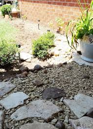 diy dry river bed and painting rock fish for what it u0027s worth