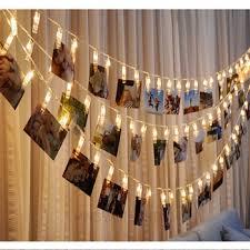 custom led string lights custom decorative 5m led battery operated photo clip string lights