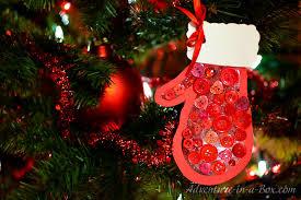 mitten kid made ornament