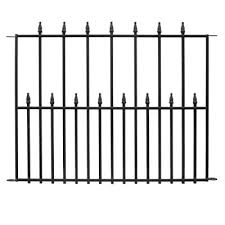 garden zone 36 in x 30 in empire steel 3 rail fence panel only