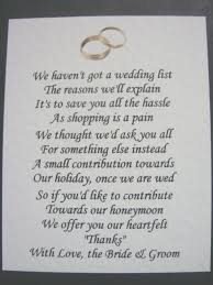 wedding gift poems 40 wedding poems asking for money gifts not presents ref no 2