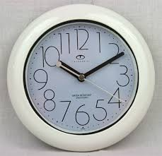 water resistant wall clock with quiet sweep second hand