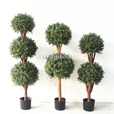 outdoor artificial topiary boxwood tree in different size