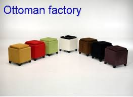 cube ottoman with tray storage single ottoman