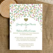 polka dot invitations cheap modern green purple gold polka dot wedding invitations