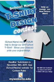 t shirt design contest template postermywall