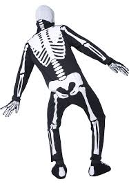 Skeleton Bones For Halloween by Glow In The Dark Skeleton Costume Men U0027s Skeleton Halloween Costume
