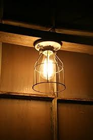 industrial light vintage style porcelain mount fixture with metal