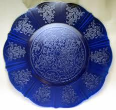 extremely rare macbeth evans cobalt blue depression glass american