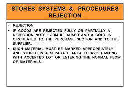Rejecting Goods Letter stores management