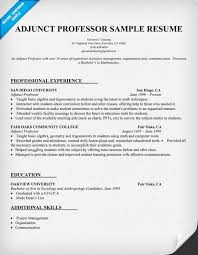 Faculty Resume Sample by Amusing Adjunct Professor Resume 90 For Your Resume Template