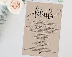 wedding invitations details card stunning wedding information card template gallery styles