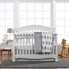Elephant Crib Bedding Sets Gray Elephant 4 Crib Bedding Set Twinkle Twinkle One