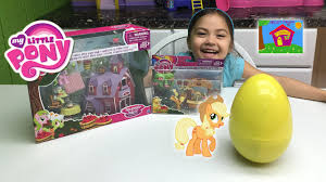 fun my little pony big surprise toys egg sweet apple acres barn