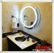 Led Bathroom Mirror Lighting - mirror lamp led bathroom round with lights on in best ideas 3