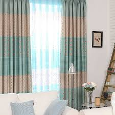 Teal Window Curtains Chic Polyester Blackout Home Window Curtains For