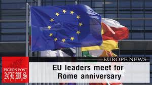 Flag Of Roma Treaty Of Rome Eu Leaders Meet For Rome Anniversary 60 Years