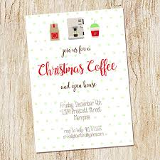 Christmas Open House Ideas by Christmas Coffee Invitation Christmas Open House Invitation