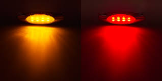oval led truck and trailer lights 7 led side clearance lights w