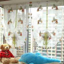 Pull Up Curtains Winnie Balloon Curtain For Kid S Room Embroidered