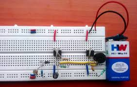 fridge door alarm circuit diagram using 555 and ldr