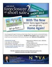 0 Home Loans by Had A Shortsale Foreclosure Or Bankruptcy Nova Home Again Can