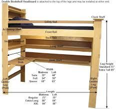 full size loft bed frame with desk frame decorations