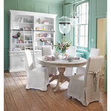 salle a manger shabby chic mesa de comedor redonda de madera diam 140 cm neuilly maisons