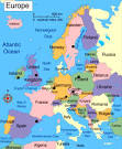 Map of Europe Cities Pictures: Map of Europe Countries Pictures