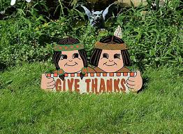happy thanksgiving indians yard sign thanksgiving yard