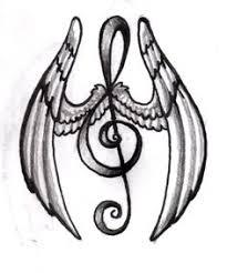 treble clef with wings note tatt treble clef