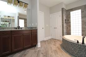 in this rustic contemporary master bathroom mini mosaic tile