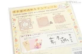 kuretake handmade mini envelope template jetpens com