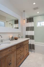 corner shower curtain rod bathroom transitional with bowed out