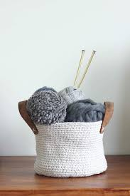 crochet home decor free patterns free crochet basket pattern made with dollar store twine free